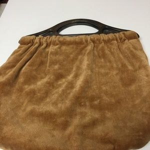 Vintage Hand Crafted Corduroy Lined Winter Purse